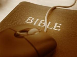 Bible with mouse